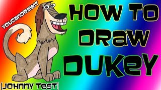 How To Draw Dukey from Johnny Test ✎ YouCanDrawIt ツ 1080p HD