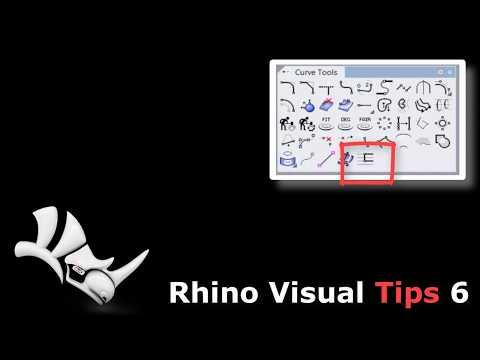 Rhino 6,  Guide Lines, in CurveTools