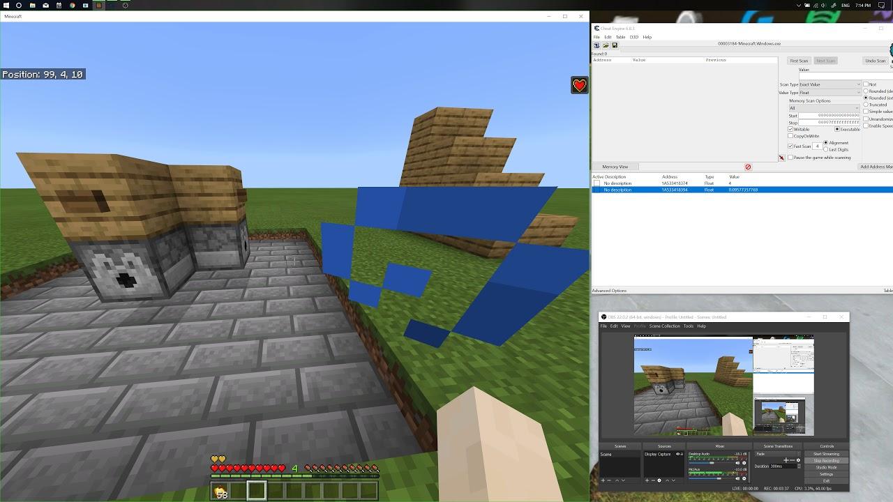 cheat engine hack minecraft windows 10
