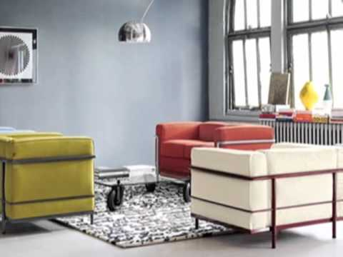 Le corbusier sofa lc2 youtube for Le corbusier lc2 nachbau