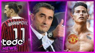 Ibrahimovic vai voltar pro MILAN ? l Valverde NÃO saíra do BARCELONA l JAMES RODRÍGUEZ no Man United