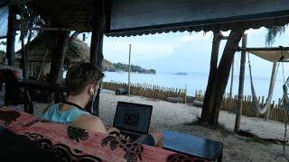 WORKING ON THE BEACH IN KOH PHANGAN   DIGITAL NOMAD VLOG 14