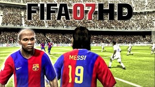 FIFA 07 HD - Beckham vs Ronaldinho | Barcelona vs Real Madrid!