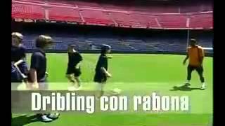 La clase del Barça Ronaldinho