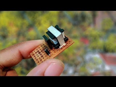 How to make a simple 3.7v to 220v ac to dc power Inverter at home