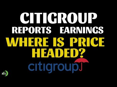 CITIGROUP REPORTS EARNINGS (WILL PRICE CRASH?)