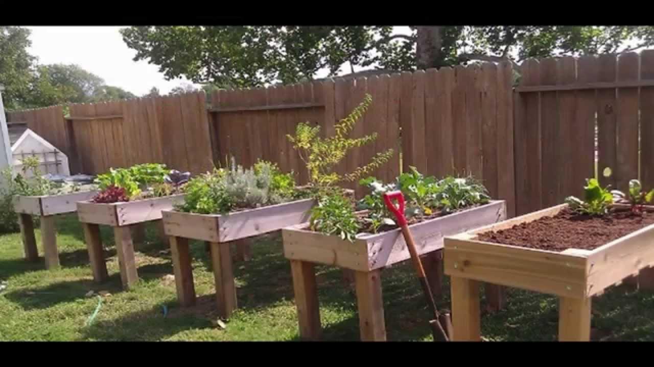 Garden Ideas raised garden bed - YouTube on Raised Patio Designs  id=33562