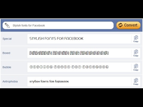 How To Change FaceBook Name In Stylish Font