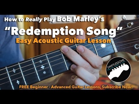 Bob Marley  Redemption Song  Easy Guitar Lesson, Chords and Tabs