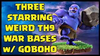 Learn How to 3 Star Weird TH9 War Bases using GoBoHo Attack Strategy | Clash of Clans