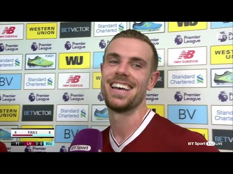 Henderson can't resist joke with Harry Kane after Liverpool victory