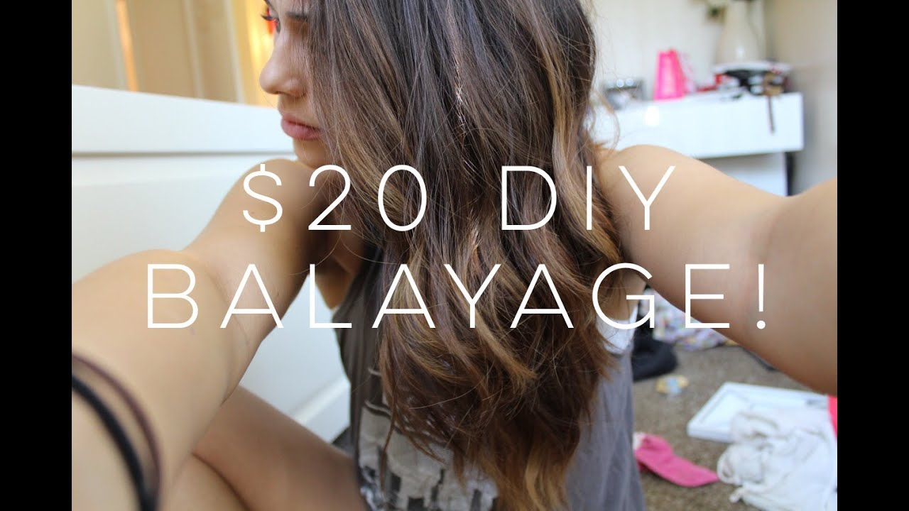 How To Easy And Cheap Diy Balayage Youtube