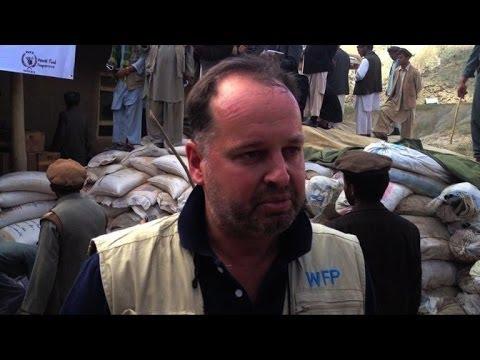Afghan landslide survivors receive food aid