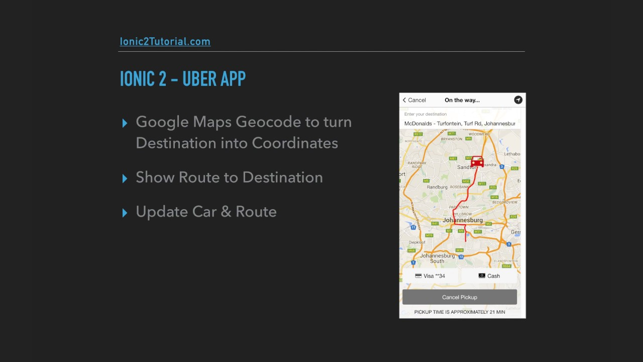 Ionic 2 - Uber App - 1