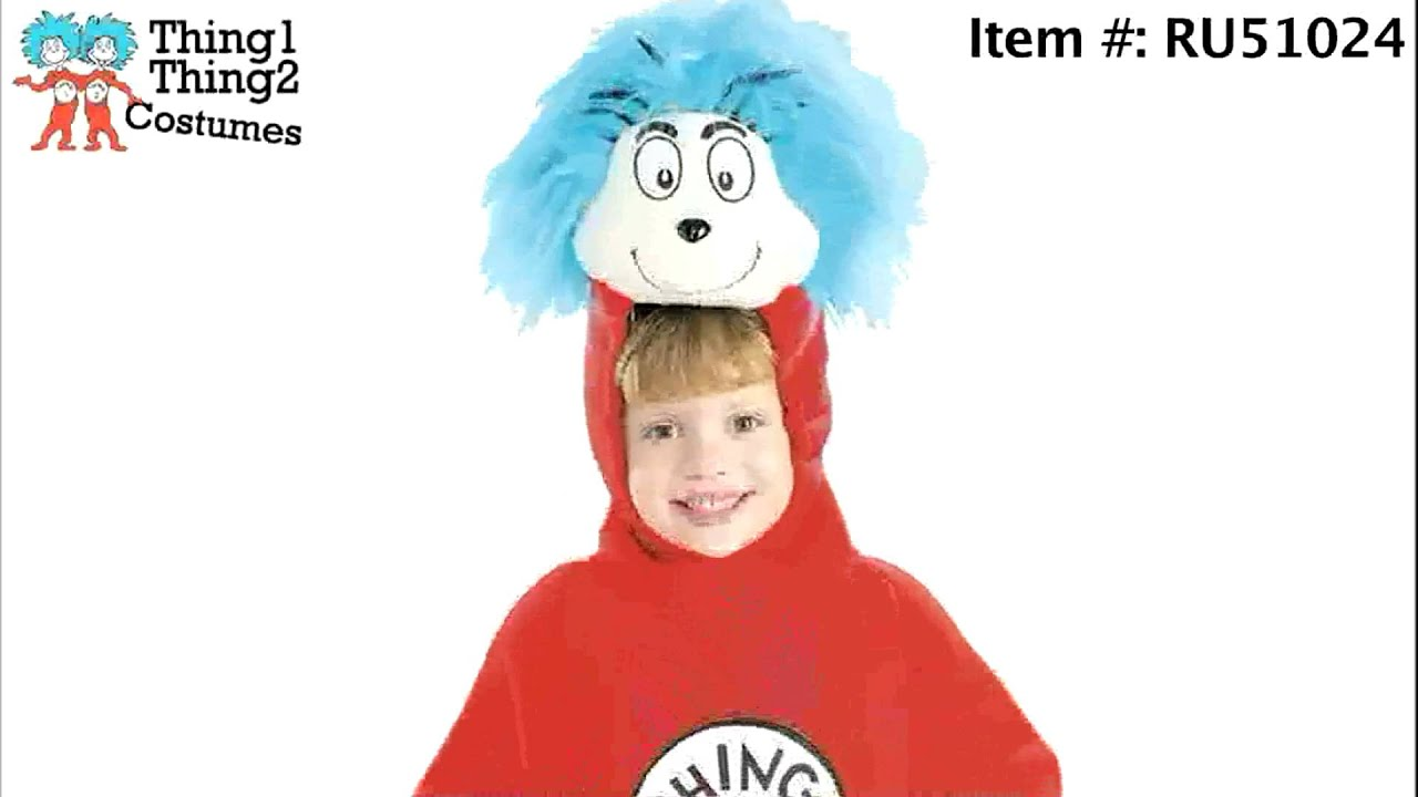 dr seuss thing 1 and thing 2 halloween costumes youtube