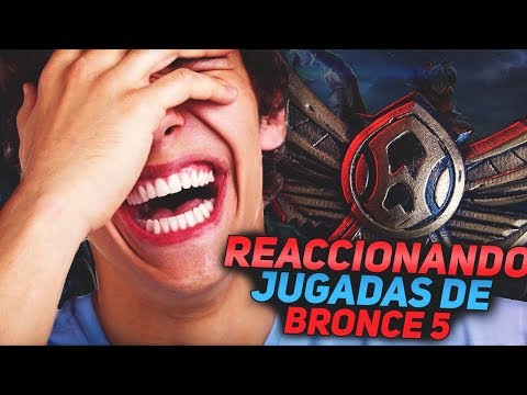 #1 REACCIONANDO A PLAYS DE BRONCE 5 | LEAGUE OF LEGENDS thumbnail