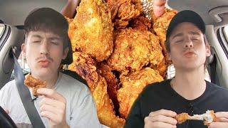 반년만에 한국 치킨 먹어봤습니다....!!??