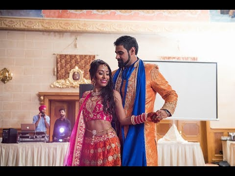 Bride and Groom first dance - a Bollywood love story
