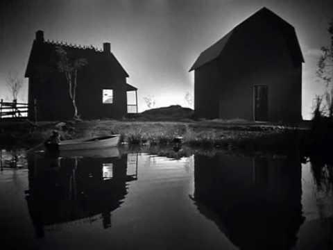 Robert Mitchum - The Night of the Hunter - River Boat Scene