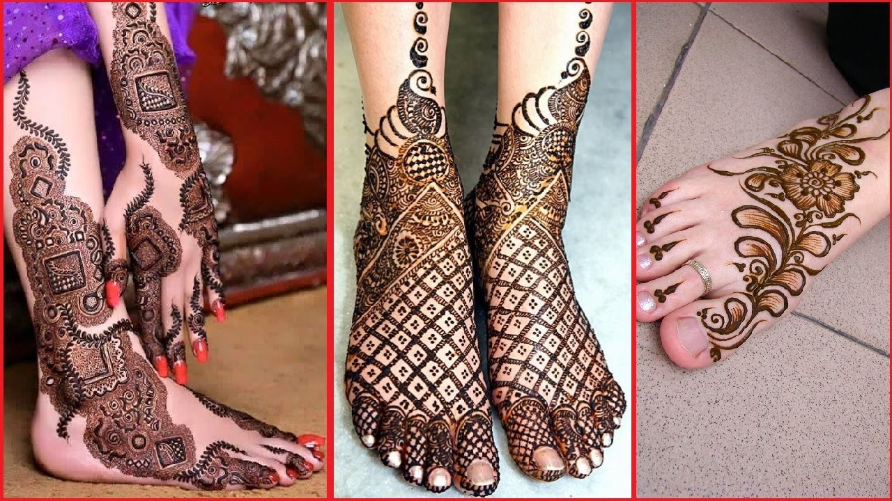 Mehndi Designs Feet N : Latest cute feet mehndi design bautiful easy henna designs for