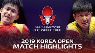 Wang Chuqin vs Tomokazu Harimoto | 2019 ITTF Korea Open Highlights (1/4)