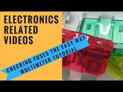 Checking fuses the easy way Multimeter tutorial