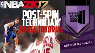 nba2k17 how to get hof post spin technician