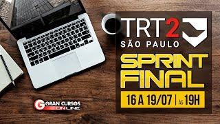Sprint Final TRT 2   Noções de Direito e Processo do Trabalho
