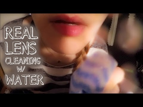 A REAL ASMR LENS CLEANING