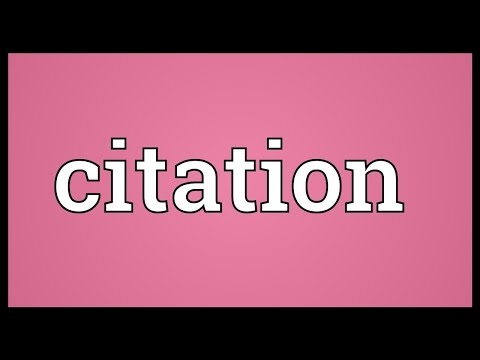 Citation Meaning