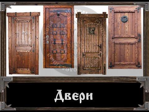 Суар Мебель, эксклюзивные Двери под старину, ручной работы из дерева