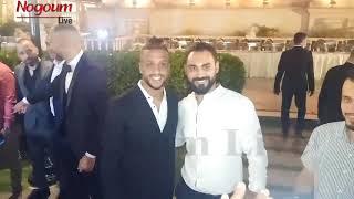أكرم توفيق وعمرو جمال ونجوم الاهلي في حفل زفاف شقيق لاعب الزمالك محمود علاء