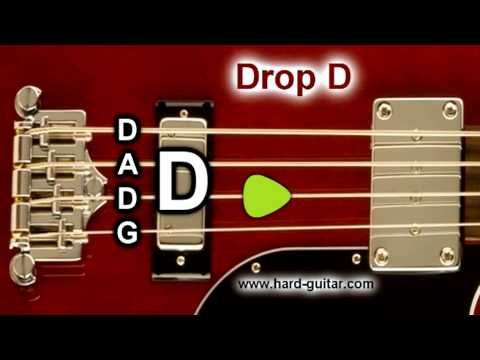 Drop D Bass Guitar Tuner (D A D G) Tuning for 4 Strings