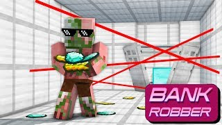 Monster School : BANK ROBBERY CHALLENGE - Minecraft Animation