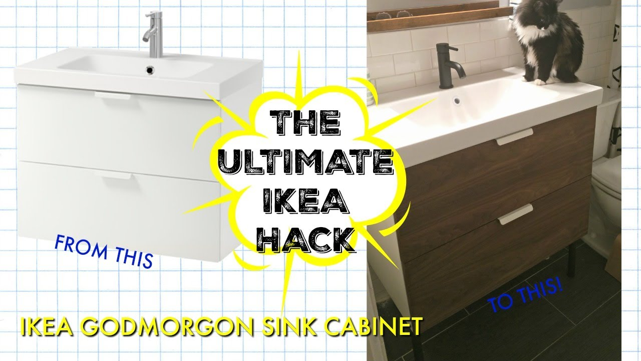 The Ultimate Ikea Hack Bathroom Vanity Overhaul Youtube