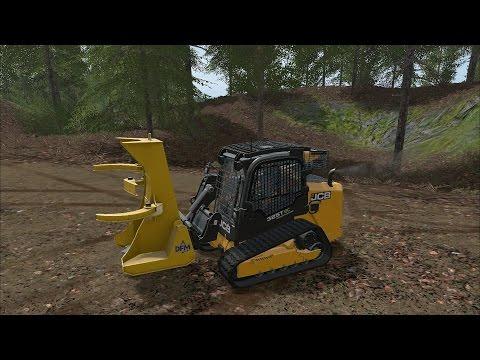 Farming Simulator 17 - Forestry Equipment - JCB 325T - DFM Attachments