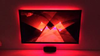 "DIY ambilight: 46"" Samsung TV + 180 WS2812b leds + arduino mega + kodi + boblight."