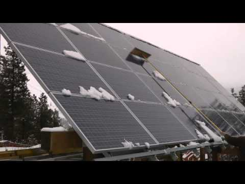 Solar Panel Snow Rake Youtube