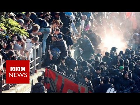 G20 summit: Protesters and police clash in Hamburg - BBC News