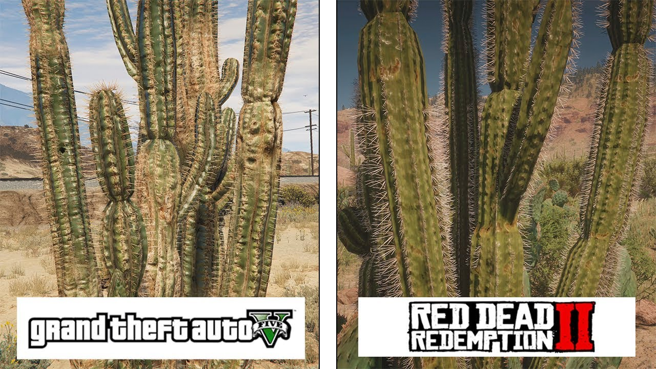 Red Dead Redemption 2 One X Vs Gta V Pc Ultra Graphics