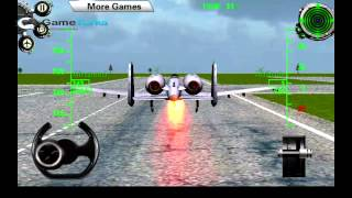 3D Army plane flight simulator Android GamePlay