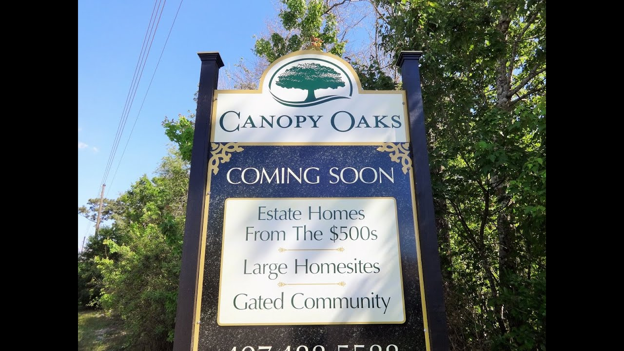 canopy oaks in winter garden by bailey homes youtube