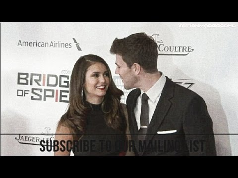 Bridge of Spies World Premiere Red Carpet -  Nina Dobrev and Austin Stowell