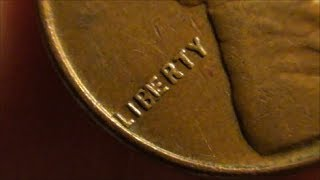 WHEAT PENNY ERROR - BIE ERROR on wheat back one cent coin