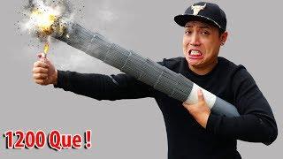 NTN - Thử Đốt Pháo Bông Khổng Lồ Nặng 2KG (Try to burn giant fireworks weight 2KG )