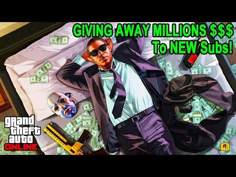 GTA 5 Giving Away MILLIONS To NEW Subs! (85% Heist Giveaway + SUMO) #gta5