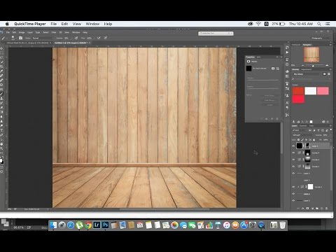 Tutorial Photoshop 5 : How to create Wood room