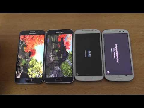 Android 6 0 1 Samsung Galaxy S6 vs S5 vs S4 vs S3 AnTuTu Benchmark Comparison 4K   YouTube