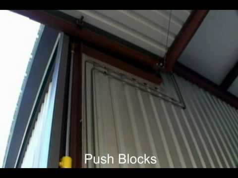 HIGHER POWER Hydraulic Door | Hydraulic Cylinders are hidden with the columns - Push Blocks & HIGHER POWER Hydraulic Door | Hydraulic Cylinders are hidden with ...