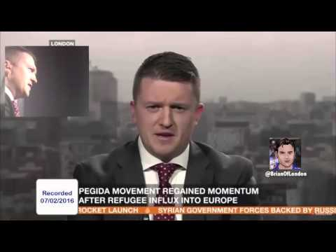 News anchor tries to trick Tommy Robinson by telling him he's reading from a Quran
